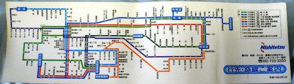 図 西鉄 バス 路線
